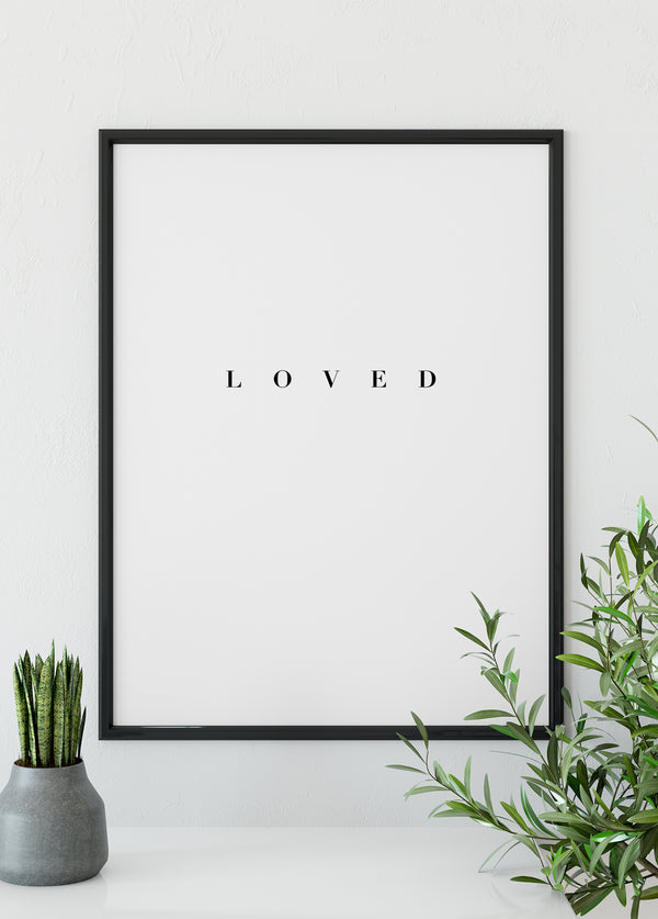 Loved - Christian poster