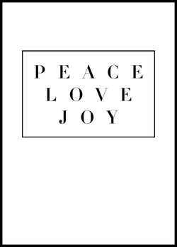 Peace love joy - Christian poster