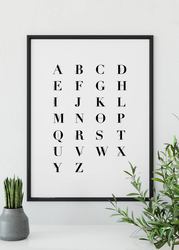 The alphabet - Christian poster