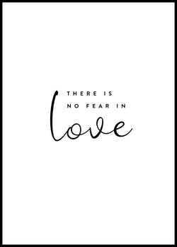 There is no fear in love - Christian poster