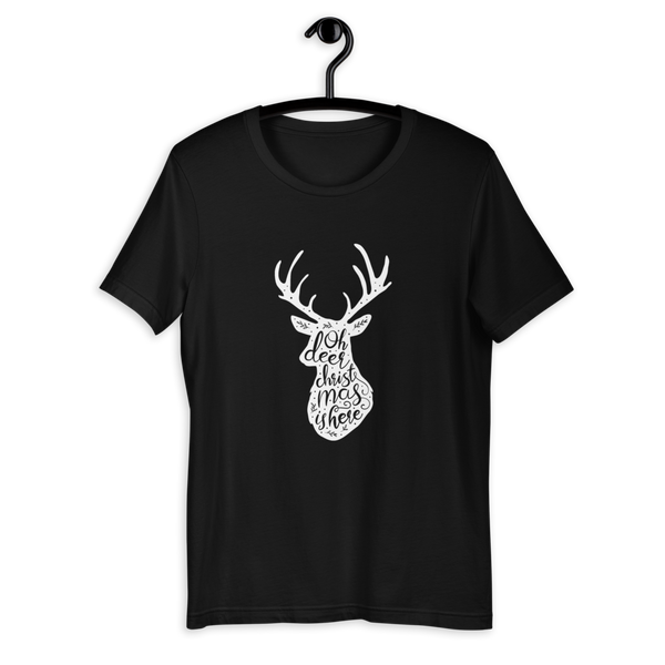 Oh Deer Christmas Is Here Unisex T-Shirt