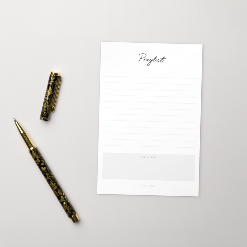 Praylist Card Set - Calligraphic