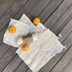 Plastic-Free Supermarket Bundle - Cotton Bag & 2 Produce Sets