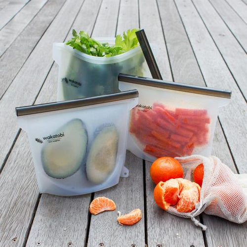 Food Saver Bundle - 4 Ziplock Bags & Produce Bags