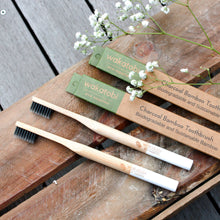 Load image into Gallery viewer, Charcoal Infused Bamboo Toothbrush - 4pcs