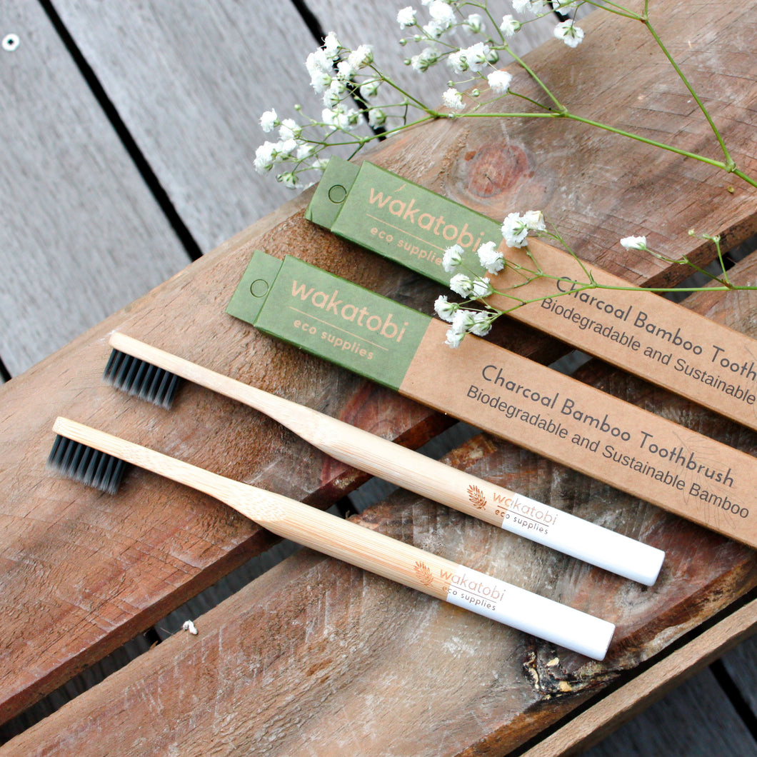 Charcoal Infused Bamboo Toothbrush