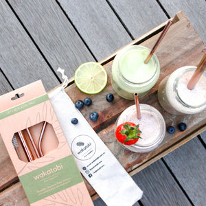 Metal Straw Set with pouch