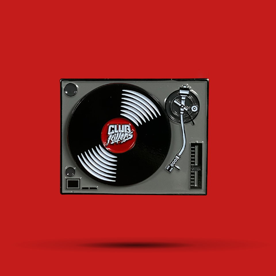 Turntable Spinner Pin (RED) - Limited Edition Of 200