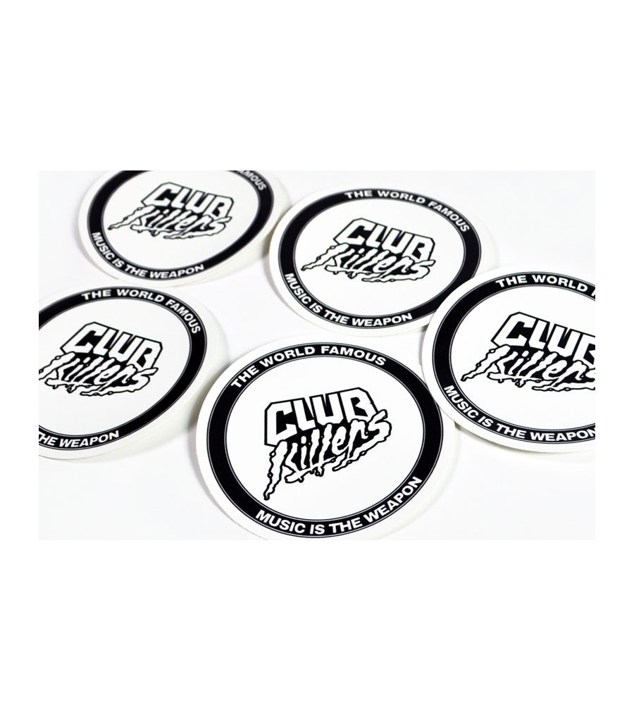 Club Killers - Music Is The Weapon Sticker 5 Pack