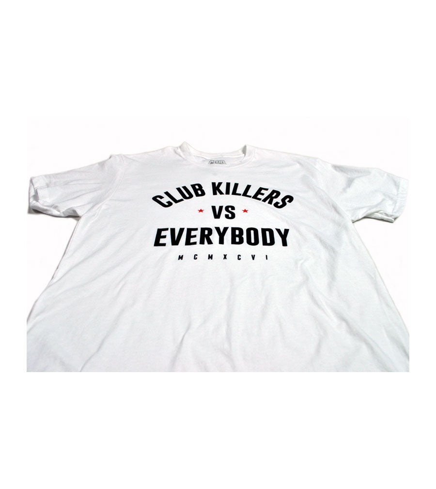 Club Killers - VS Everybody White Tee