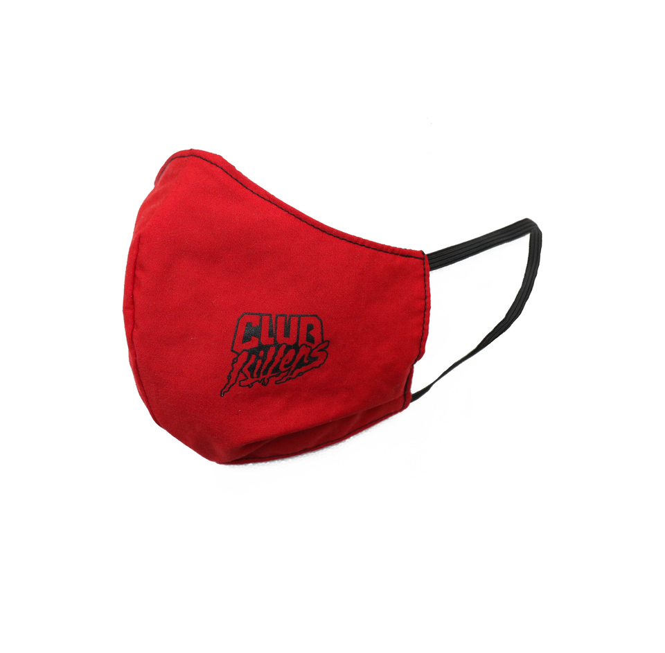 Support Your Local Disc Jockey Ninja Face Mask (RED)