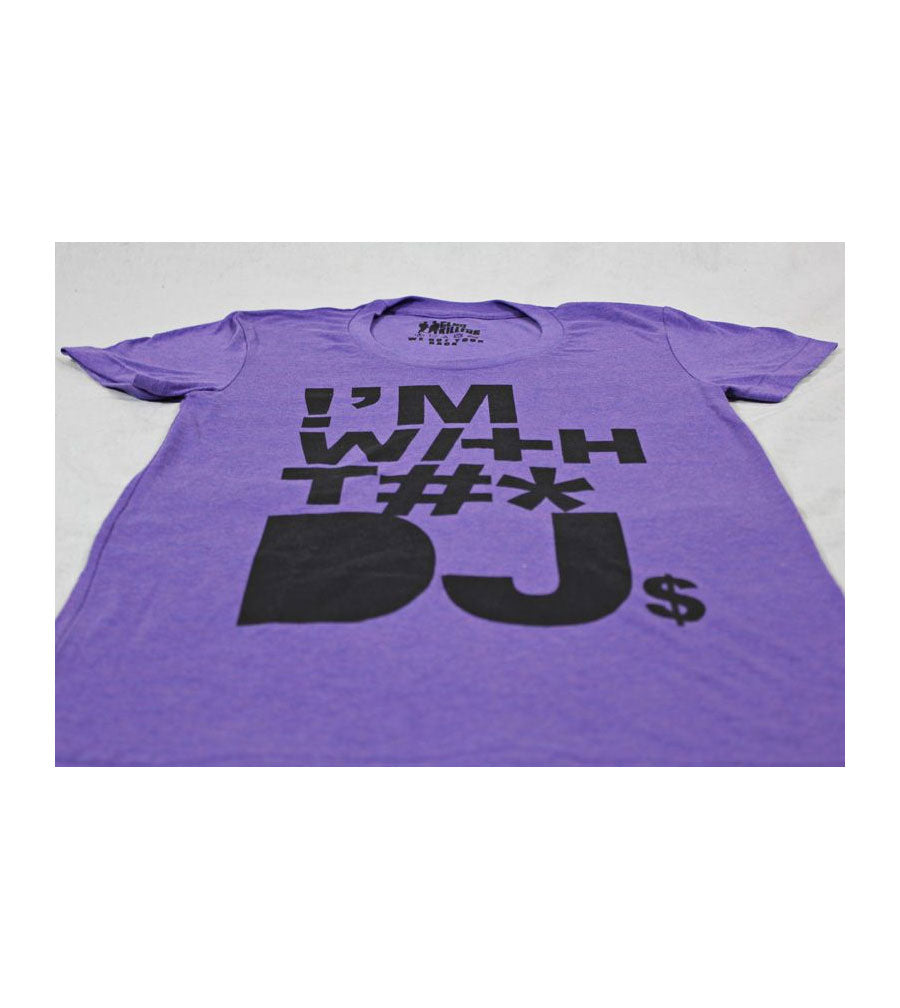 With the DJ Purple Tshirt