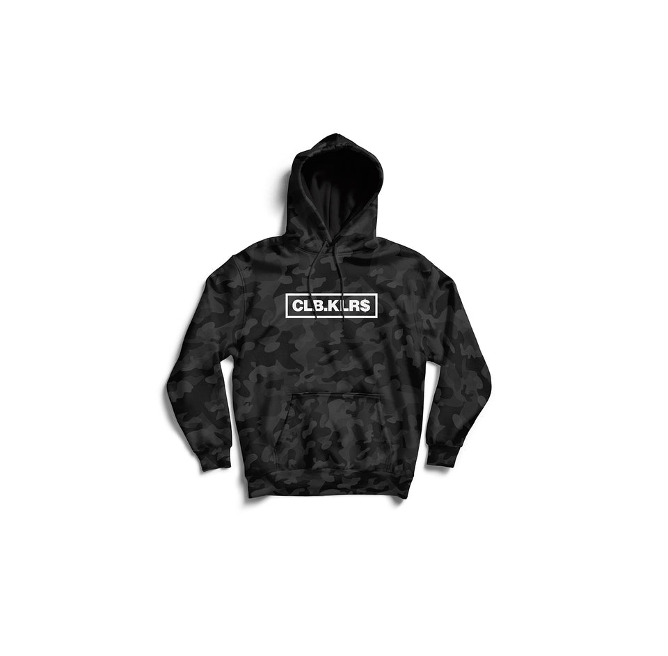 CLB.KLRS BLACK CAMO HOODIE (DARK CAMO COLOR)