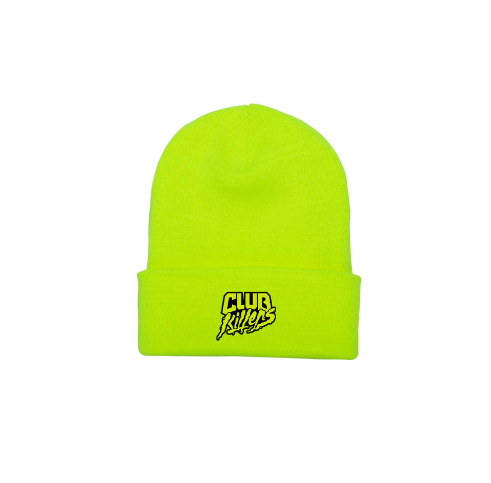 CUFFED KNIT BEANIE (SAFETY YELLOW)