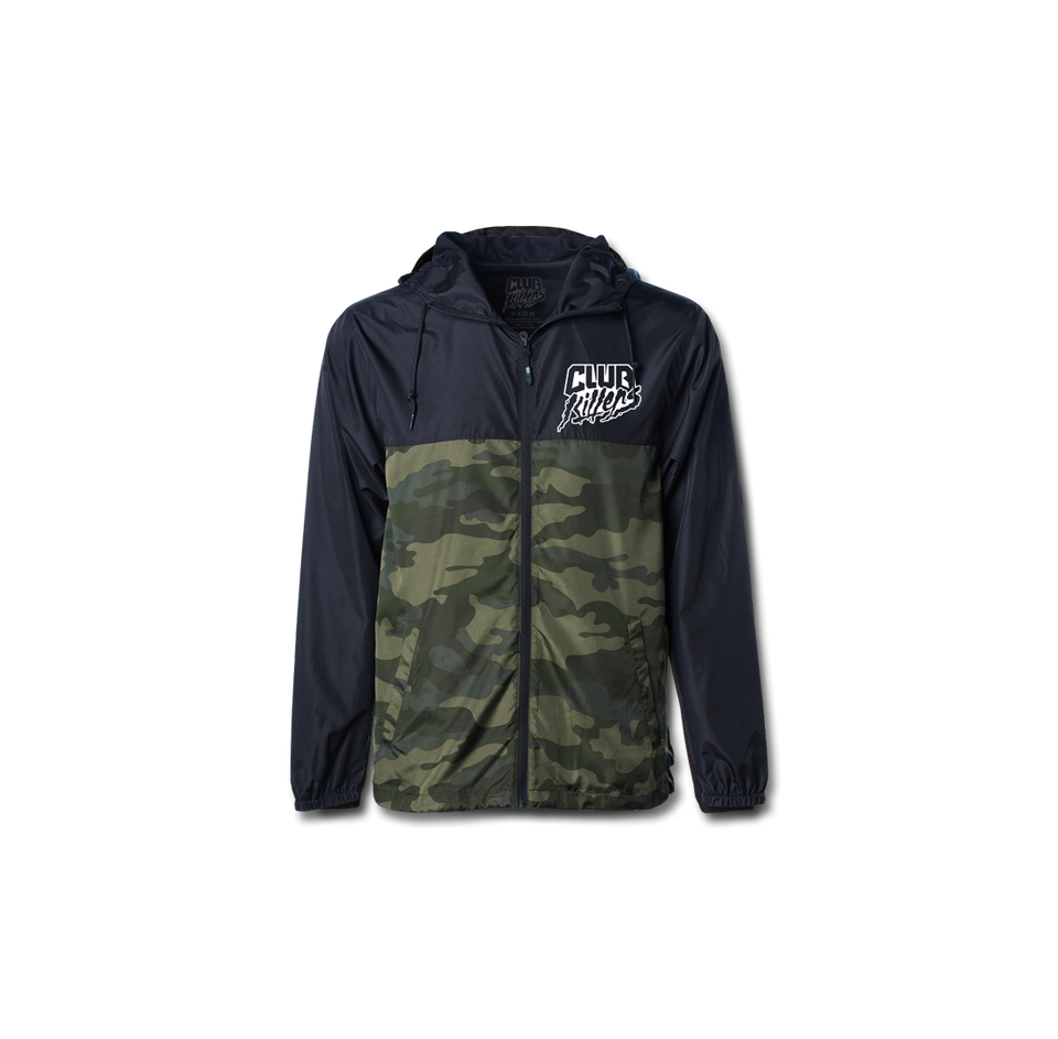 Club Killers Logo Camo Windbreaker