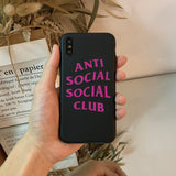 Anti Social Social Club iPhone Case