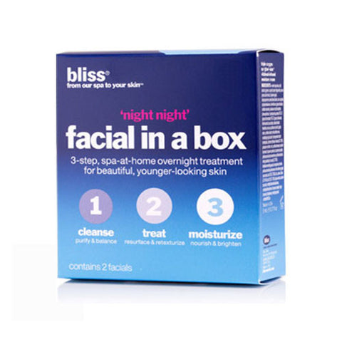 bliss: 'night night' facial-in-a-box