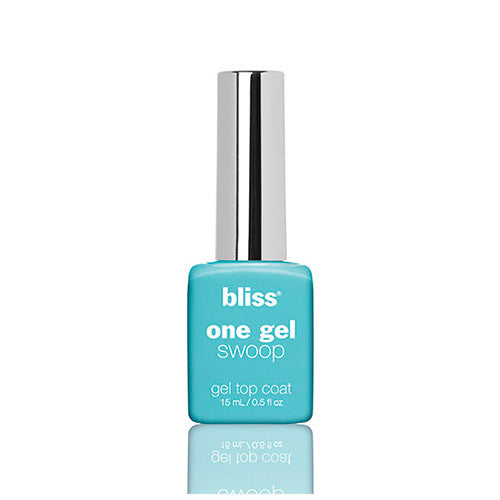 bliss genius nail polish: ONE GEL SWOOP TOP COAT