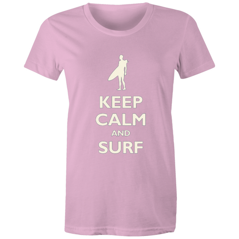 Keep calm Surf - Womens T-shirt