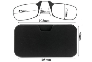 Compact Reading Glasses + Portable Universal Pod Case - Strength Readers Everywhere.