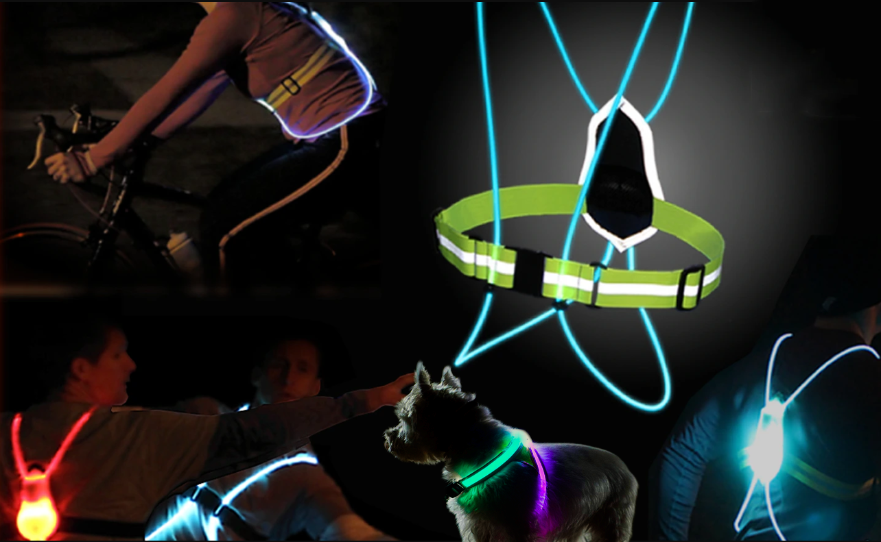 Illuminated & Reflective Athletic Gear For Sports & Safety