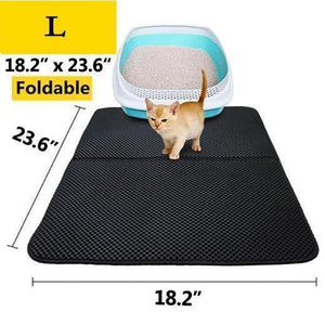 New Double Layer Cat Litter Mat - Silver Ion Antimicrobial Protection