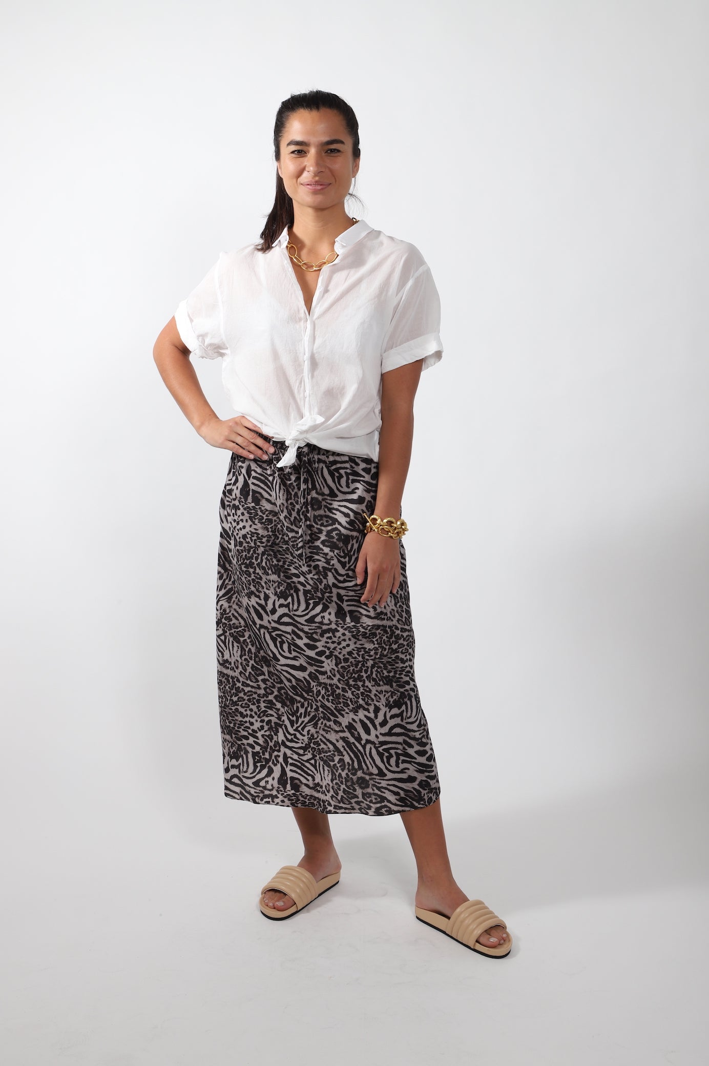 Scallop Skirt · Animal Print