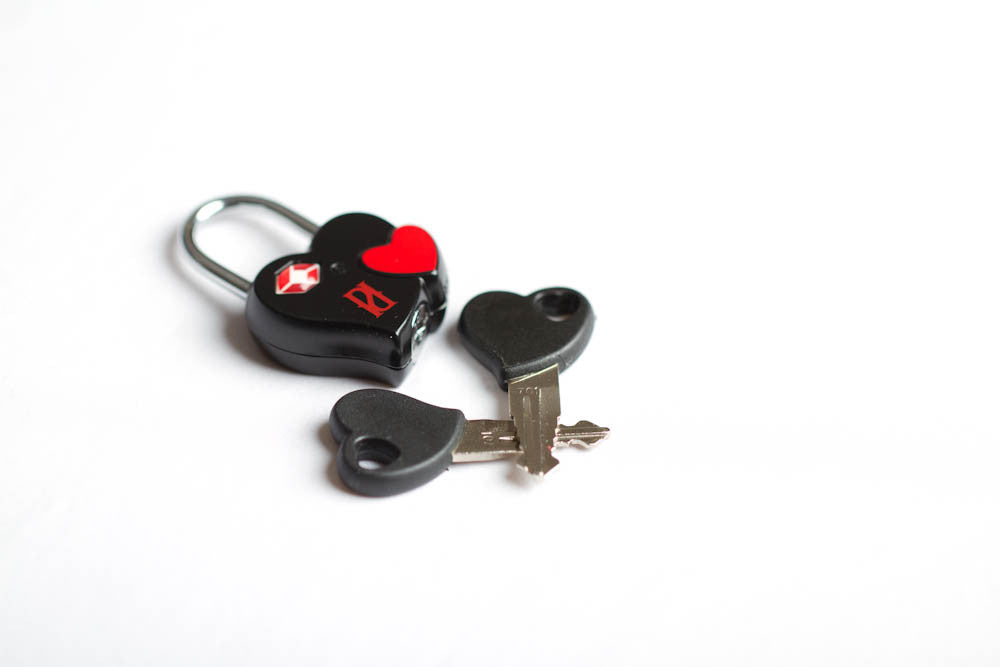 heart lock and keys for hiding your adult collection