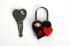 Pleasure Purse with Heart lock and keys