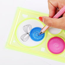 Load image into Gallery viewer, 2 PCS Multi functional Geometric Puzzle Spirograph Ruler