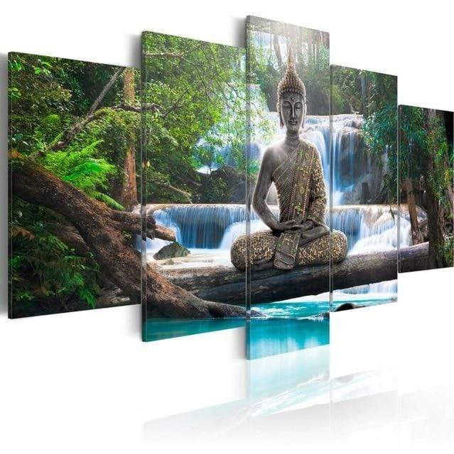 artlyne - Buddha Canvas Print Modern Abstract Zen Art Painting For Home Decoration - Artwire -