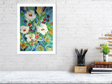 Load image into Gallery viewer, Blue Range Four White Flowers