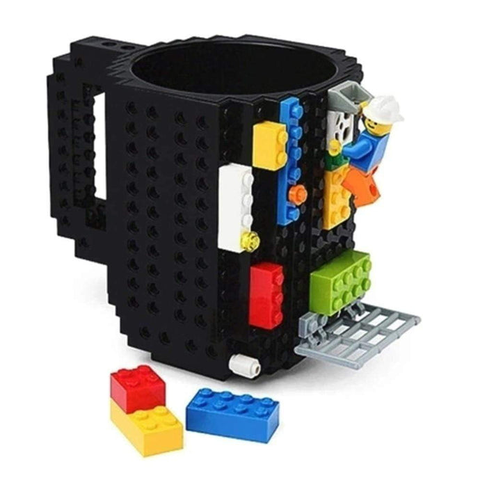 Creative Coffee Cup with LEGO Building Blocks Design