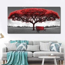 Load image into Gallery viewer, artlyne - Modern Red Money Tree Wall Art Canvas Posters Prints unframed 60x120cm - Artwire - Art