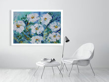 Load image into Gallery viewer, Blue with white flowers