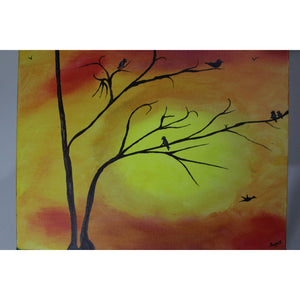 artlyne - Birds on branches - Artwire - Acrylic art