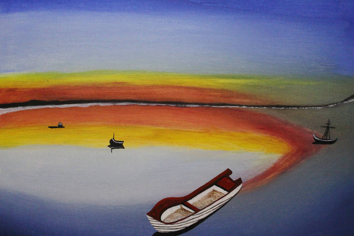 artlyne - Lake boat - Artwire - Acrylic art