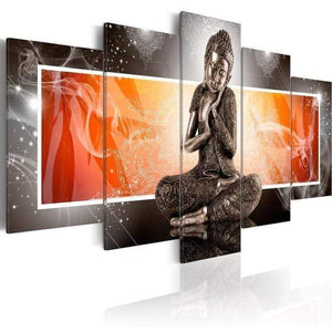 artlyne - HD 5 Pieces Diamond Buddha Zen Meditation Landscape print for Home Decoration - Artwire -