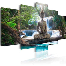Load image into Gallery viewer, artlyne - HD 5 Pieces Diamond Buddha Zen Meditation Landscape print for Home Decoration - Artwire -