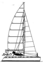"Load image into Gallery viewer, artlyne - 42 ft Ocean Going Catamaran ""Catiana"" Crowther model 226 - Rudolf Scholz - Crowther 226"