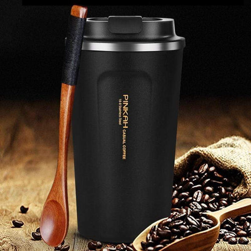 Stainless Steel Thermo Travel Coffee Mug with Lid and Vacuum Flask