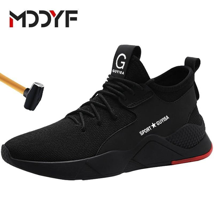 artlyne - Steel Toe Construction Protective Footwear Lightweight 3D Shockproof Work Sneaker Shoes For Men - Artwire - Safety Shoes