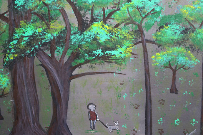 artlyne - Walk time - Artwire - Acrylic art