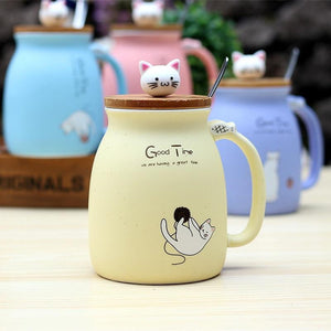 Cat designs heat-resistant coffee ceramic mug