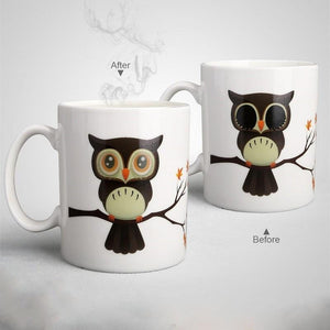 Ceramic Magic Owl Coffee Cup