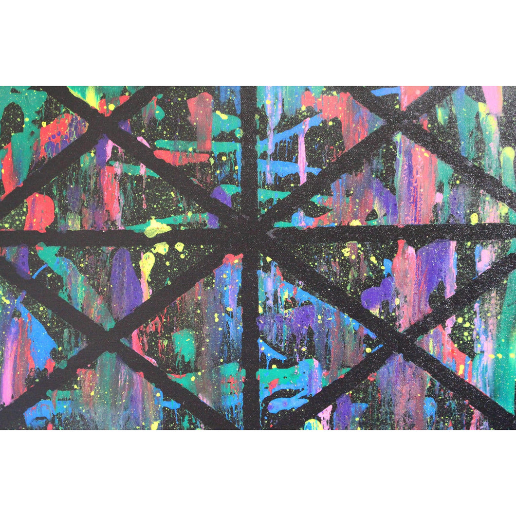 artlyne - Crisscross Abstract - Artwire - Acrylic art