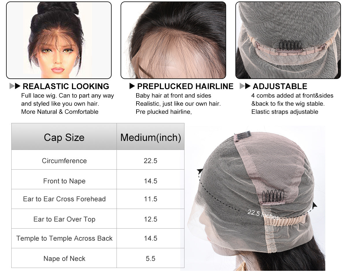 MarchQueen Full Lace Wigs Cap Designs