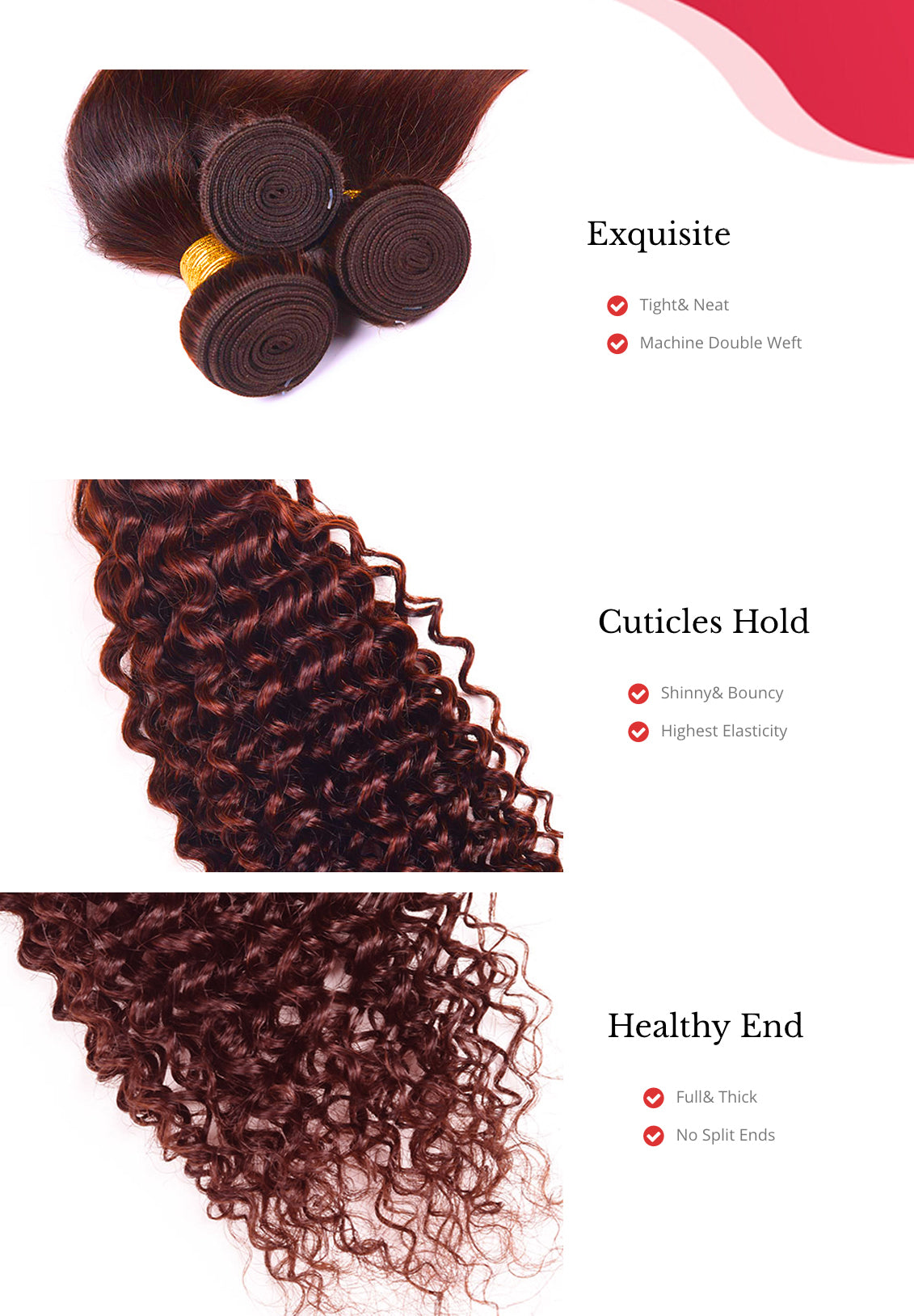MarchQueen Peruvian Curly Weave Human Hair 3 Bundles Color Weave Cheap Remy Hair Extensions 7 Colors