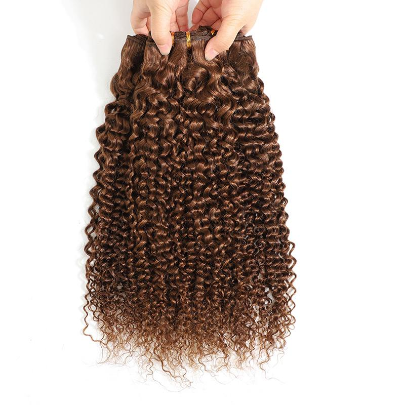 Curly Wave Human Hair 4 Bundles Of Weave Virgin Hair Supply