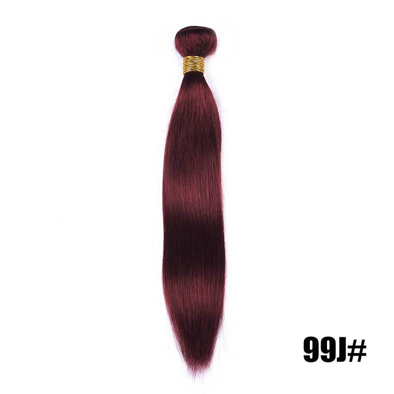 Brazilian Straight Hair 3 Bundles 7 Colors Human Hair Extensions